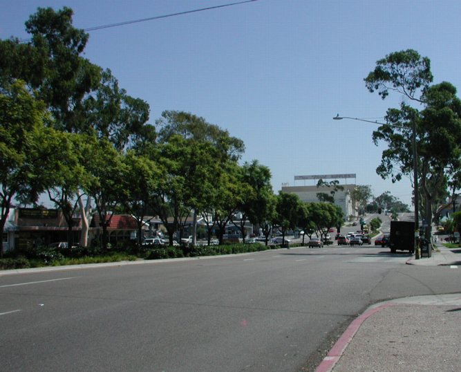 West El Cajon Blvd looking east