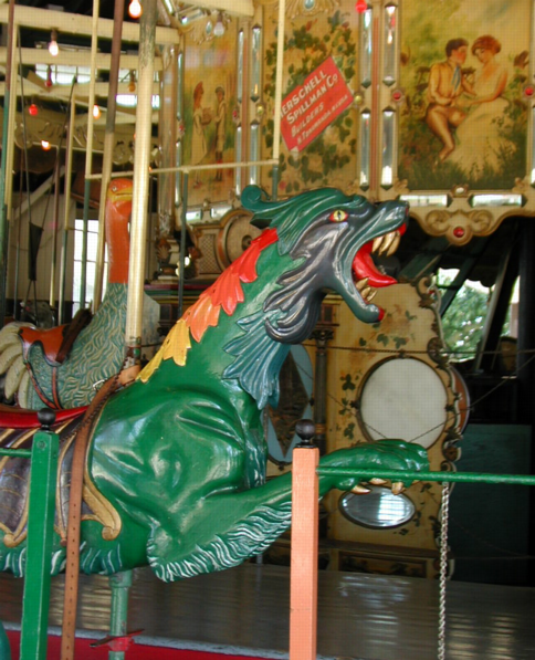 Carousel, dragons and ostriches