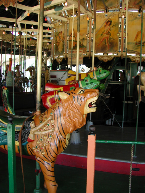 Carousel, tigers and racing frogs