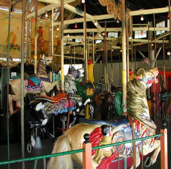Carousel, there are horses, too