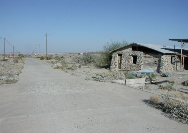 Old roadway at Miller's station