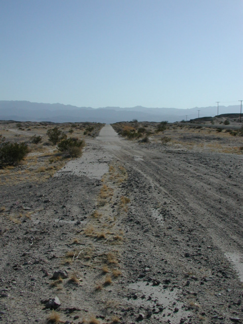 Old road near Plaster City