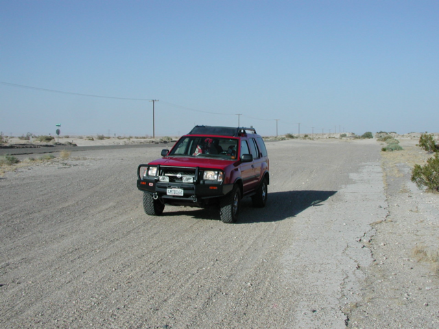 On the old road near Plaster City