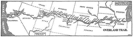 Overland Trail Map